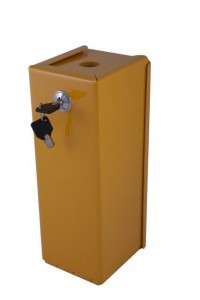 Lockable Steel Sharps Disposal Units